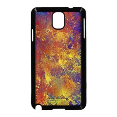 Abstract In Gold, Blue, And Red Samsung Galaxy Note 3 Neo Hardshell Case (black)