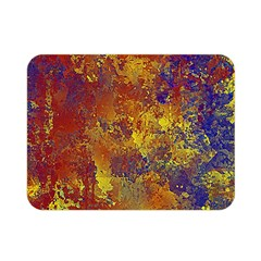 Abstract In Gold, Blue, And Red Double Sided Flano Blanket (mini)