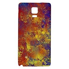 Abstract in Gold, Blue, and Red Galaxy Note 4 Back Case