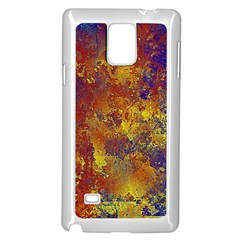 Abstract In Gold, Blue, And Red Samsung Galaxy Note 4 Case (white)