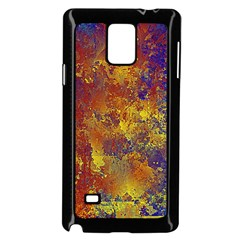 Abstract In Gold, Blue, And Red Samsung Galaxy Note 4 Case (black)