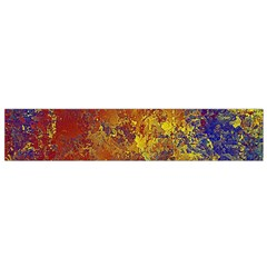 Abstract In Gold, Blue, And Red Flano Scarf (small)