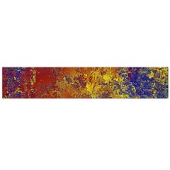 Abstract In Gold, Blue, And Red Flano Scarf (large)