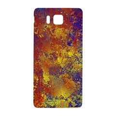 Abstract In Gold, Blue, And Red Samsung Galaxy Alpha Hardshell Back Case