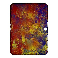 Abstract In Gold, Blue, And Red Samsung Galaxy Tab 4 (10 1 ) Hardshell Case