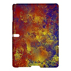 Abstract in Gold, Blue, and Red Samsung Galaxy Tab S (10.5 ) Hardshell Case