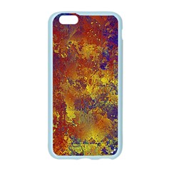 Abstract in Gold, Blue, and Red Apple Seamless iPhone 6 Case (Color)