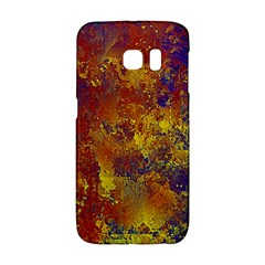 Abstract In Gold, Blue, And Red Galaxy S6 Edge