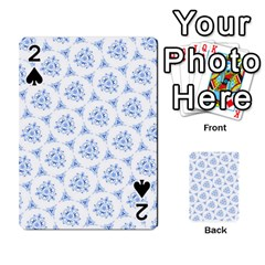 Sweet Doodle Pattern Blue Playing Cards 54 Designs