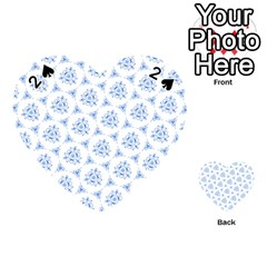 Sweet Doodle Pattern Blue Playing Cards 54 (heart)