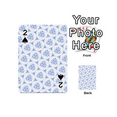 Sweet Doodle Pattern Blue Playing Cards 54 (Mini)