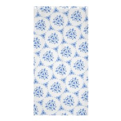 Sweet Doodle Pattern Blue Shower Curtain 36  x 72  (Stall)