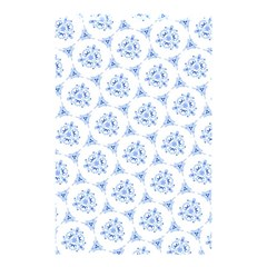 Sweet Doodle Pattern Blue Shower Curtain 48  x 72  (Small)
