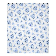 Sweet Doodle Pattern Blue Shower Curtain 60  x 72  (Medium)