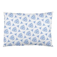 Sweet Doodle Pattern Blue Pillow Cases (Two Sides)