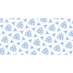 Sweet Doodle Pattern Blue You Are Invited 3d Greeting Card (8x4)