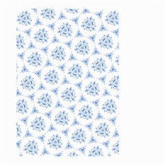 Sweet Doodle Pattern Blue Small Garden Flag (Two Sides)