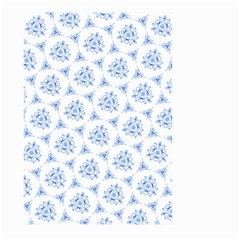 Sweet Doodle Pattern Blue Large Garden Flag (two Sides)