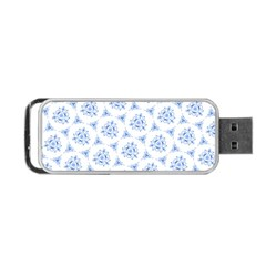 Sweet Doodle Pattern Blue Portable USB Flash (One Side)
