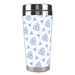 Sweet Doodle Pattern Blue Stainless Steel Travel Tumblers