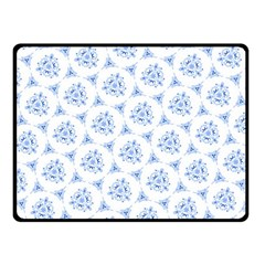 Sweet Doodle Pattern Blue Double Sided Fleece Blanket (Small)