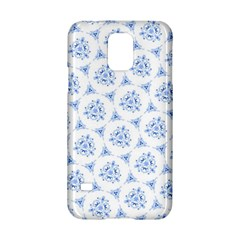 Sweet Doodle Pattern Blue Samsung Galaxy S5 Hardshell Case