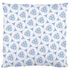 Sweet Doodle Pattern Blue Large Flano Cushion Cases (Two Sides)