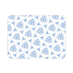 Sweet Doodle Pattern Blue Double Sided Flano Blanket (mini)