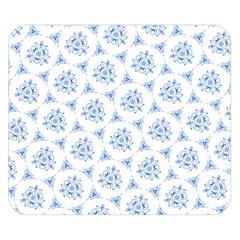 Sweet Doodle Pattern Blue Double Sided Flano Blanket (Small)