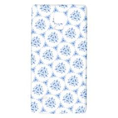 Sweet Doodle Pattern Blue Galaxy Note 4 Back Case