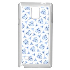 Sweet Doodle Pattern Blue Samsung Galaxy Note 4 Case (white)