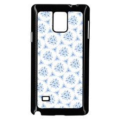 Sweet Doodle Pattern Blue Samsung Galaxy Note 4 Case (black)