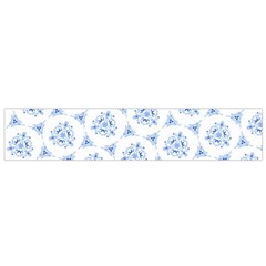 Sweet Doodle Pattern Blue Flano Scarf (Small)