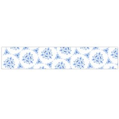 Sweet Doodle Pattern Blue Flano Scarf (large)