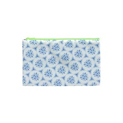 Sweet Doodle Pattern Blue Cosmetic Bag (xs)