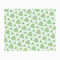 Sweet Doodle Pattern Green Small Glasses Cloth