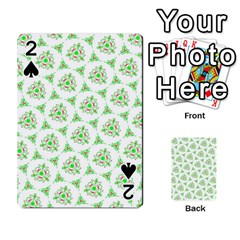 Sweet Doodle Pattern Green Playing Cards 54 Designs