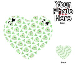 Sweet Doodle Pattern Green Playing Cards 54 (Heart)