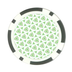 Sweet Doodle Pattern Green Poker Chip Card Guards