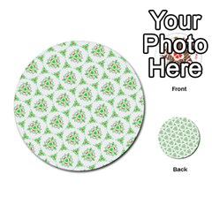 Sweet Doodle Pattern Green Multi Purpose Cards (round)