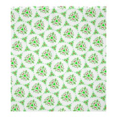 Sweet Doodle Pattern Green Shower Curtain 66  x 72  (Large)