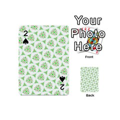 Sweet Doodle Pattern Green Playing Cards 54 (Mini)