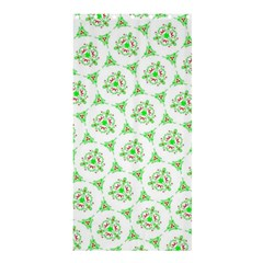 Sweet Doodle Pattern Green Shower Curtain 36  x 72  (Stall)