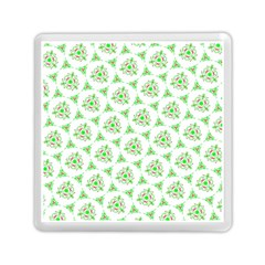 Sweet Doodle Pattern Green Memory Card Reader (square)
