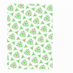 Sweet Doodle Pattern Green Small Garden Flag (Two Sides)
