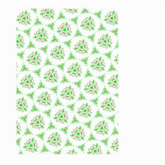 Sweet Doodle Pattern Green Large Garden Flag (Two Sides)