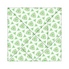 Sweet Doodle Pattern Green Acrylic Tangram Puzzle (6  x 6 )
