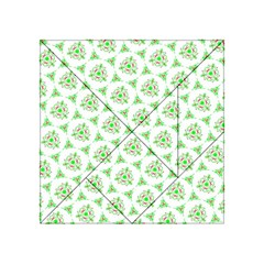 Sweet Doodle Pattern Green Acrylic Tangram Puzzle (4  x 4 )