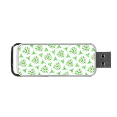 Sweet Doodle Pattern Green Portable Usb Flash (one Side)