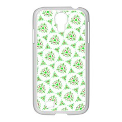 Sweet Doodle Pattern Green Samsung Galaxy S4 I9500/ I9505 Case (white)